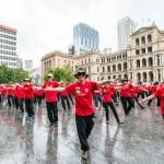 Tai Chi Demonstration in Downtown Brisbane