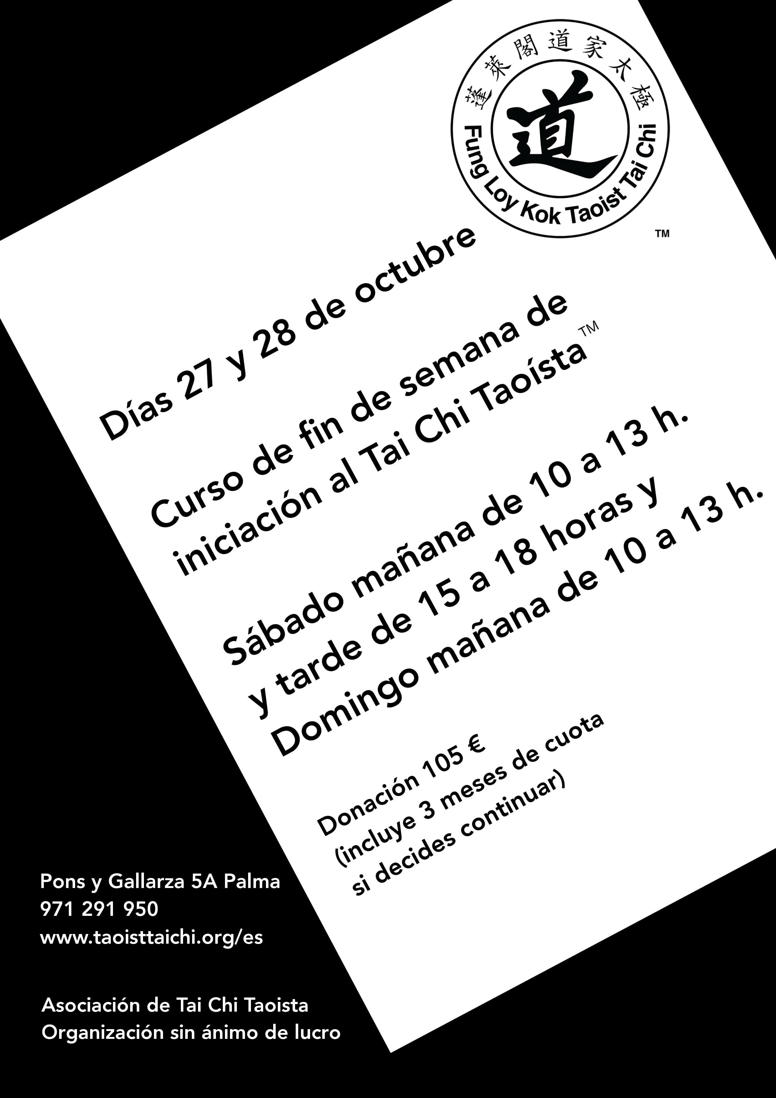 0aa2ad6614ce28 ES-Balears-Palma FinDeSemana 2018-10-27y28 - Taoist Tai Chi SocietyTaoist  Tai Chi Society